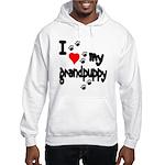 I love my grandpuppy Hooded Sweatshirt