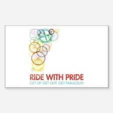 Vermont Ride With Pride Rectangle Decal