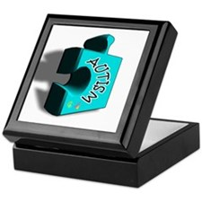 """3-D Autism Puzzle Piece"" Keepsake Box"