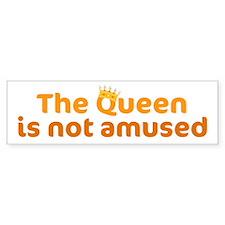 The Queen Bumper Bumper Sticker