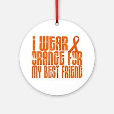 I Wear Orange For My Best Friend 16 Ornament (Roun