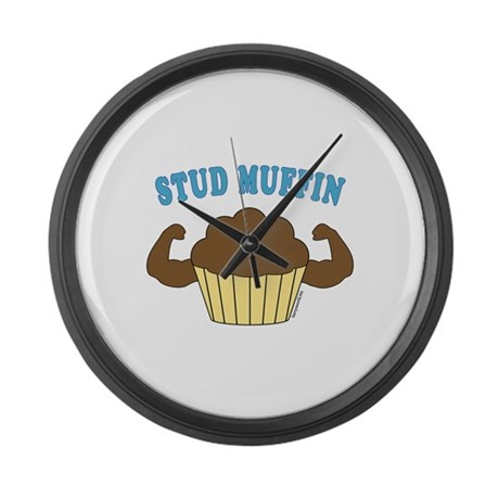 Stud Muffin 2 Large Wall Clock