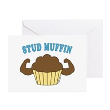 Stud Muffin 2 Greeting Cards (Pk of 20)