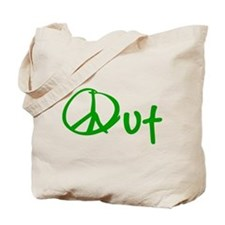 Peace green Tote Bag
