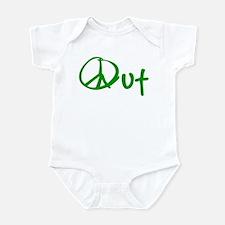 Peace green Infant Bodysuit
