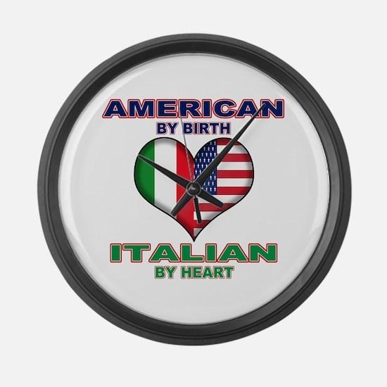 Italian american Pride Large Wall Clock