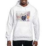 Newfoundland Pulling Wagon Hooded Sweatshirt