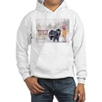 Newfoundland Pulling Wagon Hooded Sweatshirt
