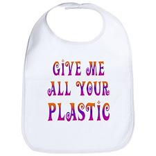 give plastic Bib