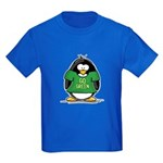 Go Green Penguin Kids Dark T-Shirt