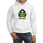 Go Green Penguin Hooded Sweatshirt