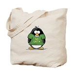 Go Green Penguin Tote Bag