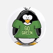 """Go Green Penguin 3.5"""" Button"""