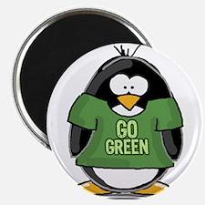 Go Green Penguin Magnet