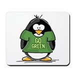Go Green Penguin Mousepad