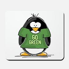 Go Green Penguin Mousepad