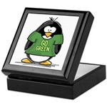 Go Green Penguin Keepsake Box