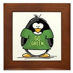 Go Green Penguin Framed Tile