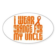 I Wear Orange For My Uncle 16 Oval Decal