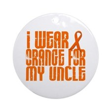 I Wear Orange For My Uncle 16 Ornament (Round)