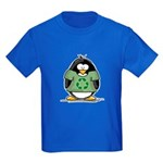 Recycle Penguin Kids Dark T-Shirt