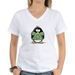 Recycle Penguin Women's V-Neck T-Shirt