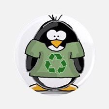 """Recycle Penguin 3.5"""" Button"""