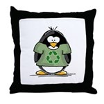 Recycle Penguin Throw Pillow