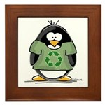 Recycle Penguin Framed Tile