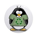 Recycle Penguin Ornament (Round)