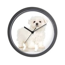 Maltese Puppy Wall Clock