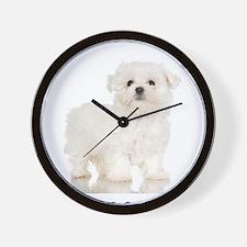 Maltese Puppy Wall Clock