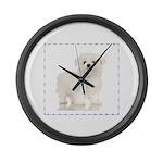 Maltese Puppy Large Wall Clock