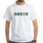 Eco-friendly Penguins White T-Shirt