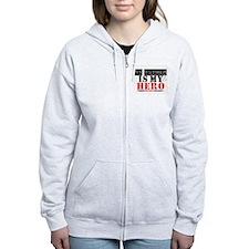 Lung Cancer Hero Mother Zip Hoodie