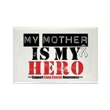 Lung Cancer Hero Mother Rectangle Magnet
