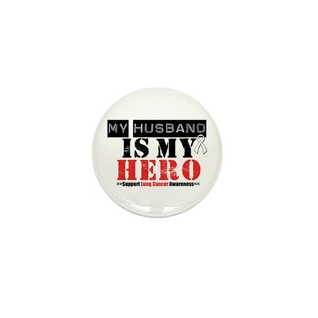 Lung Cancer Hero Husband Mini Button (100 pack)