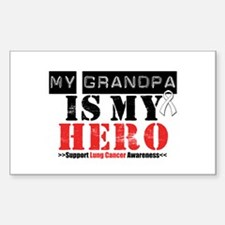 Lung Cancer Hero Grandpa Rectangle Decal