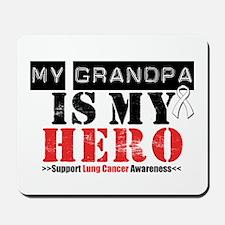 Lung Cancer Hero Grandpa Mousepad