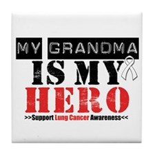 Lung Cancer Hero Grandma Tile Coaster