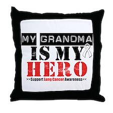 Lung Cancer Hero Grandma Throw Pillow