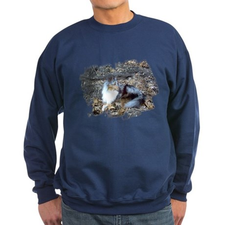 Blue Merle in the Leaves Sweatshirt (dark)