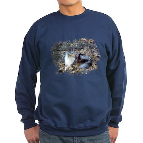 Blue Merle in the Leaves Sweatshirt (dark)