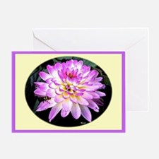 Crazy Love Dahlia Greeting Card