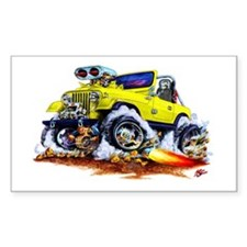 Jeep Yellow Rectangle Decal