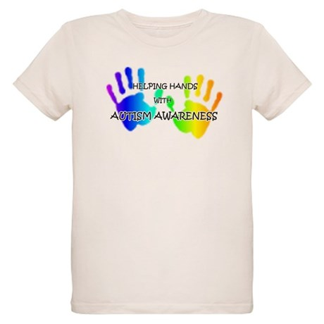 """Helping Hands with Autism Aw Organic Kids T-Shirt"