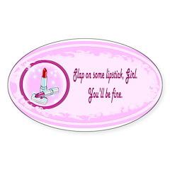 Lipstick helps Oval Sticker (50 pk)