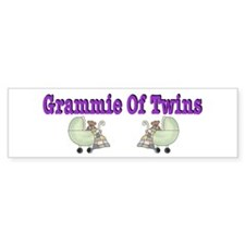 Grammie Of Twins Bumper Bumper Sticker