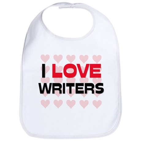 I LOVE WRITERS Bib