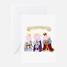 Three Wise Pigs Greeting Card